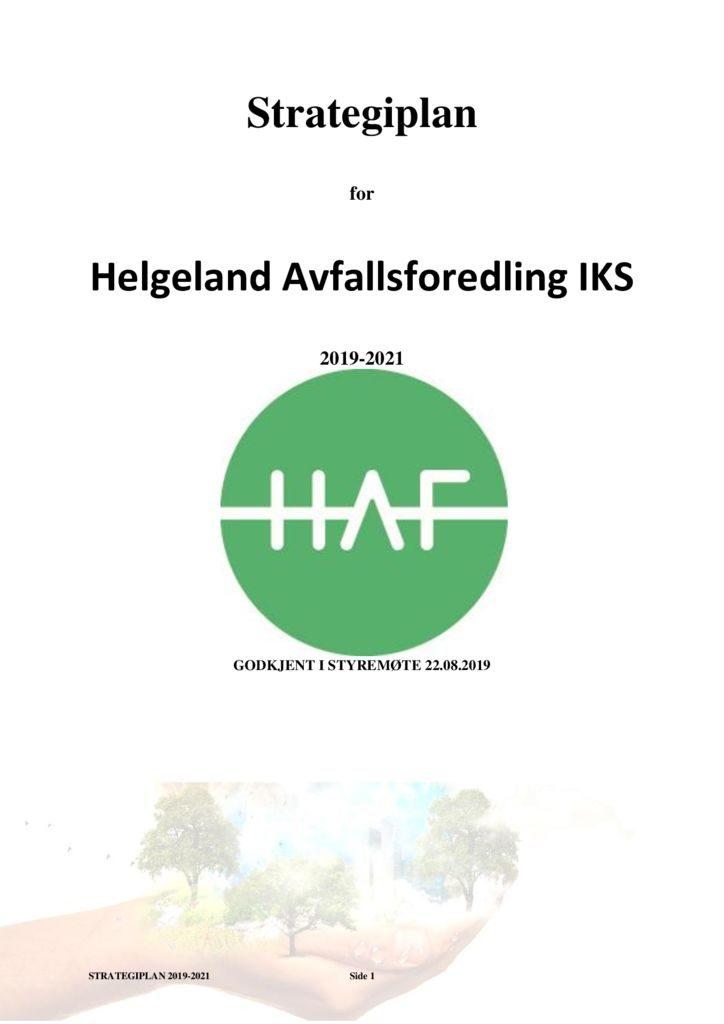 thumbnail of Strategiplan HAF 2019 -2021