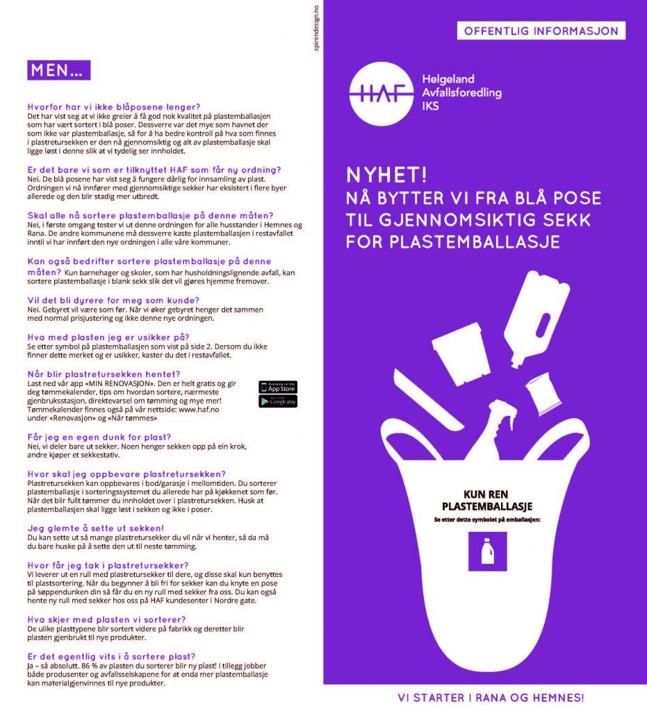 Sorteringsguide plastemballasje